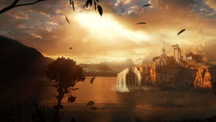 Temple of Knowledge, Digital Matte Painting (2004)