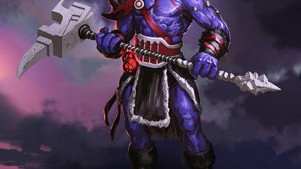 random purple character