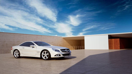 Mercedes-Benz in 3D environment