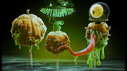 Halloween Pumpkin Lolly Monsters