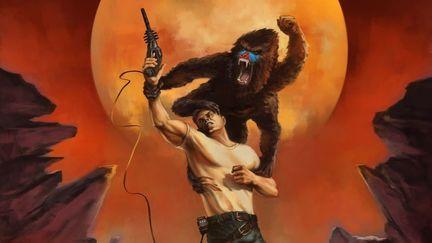 70's style sci-fi book cover