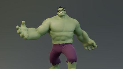 Hulk 3d character statue