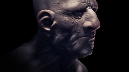 An old guy with a big nose