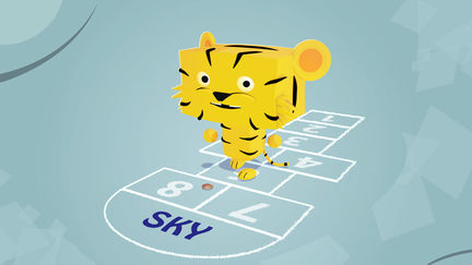 sky, the little tiger