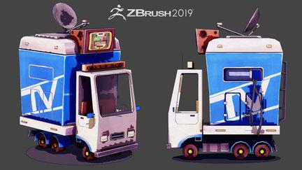 Mini Car - Zbrush 2019 NPR renders