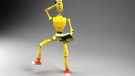 Robot 'wannabe model' Benjamin Bouten