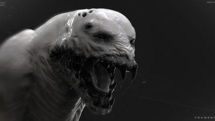 Stalker Creature - Mouth - FRAMESHIFT GAME CONCEPT ART