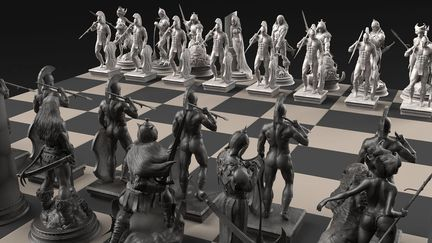 - Frazetta´s Chess Set -