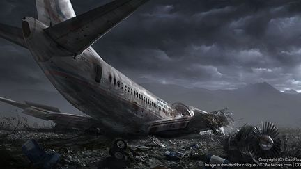 Planecrash Picture, Captflushgarden (2D)