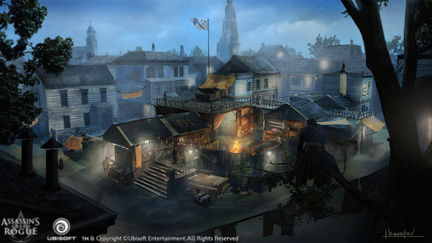 Assassin's Creed Rogue Gang HQ overview  Concept art