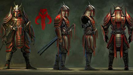 Samurai Fett Side and Back profile