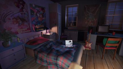 Child's Bedroom: Night Scene