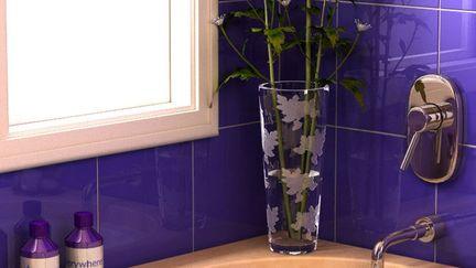 Soothing Purple Bathroom - Closer Look