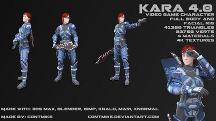 Kara 4.0 video game character