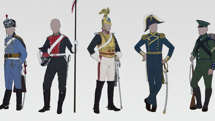 Cavalry, navy and rifles.