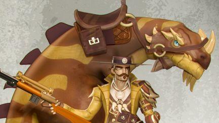 Dino rider cowboy
