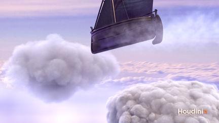 Houdini Cloud Flying