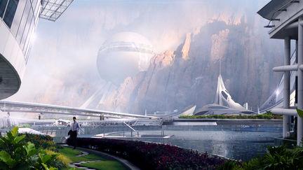 Some kind of sci fi, fancy resort