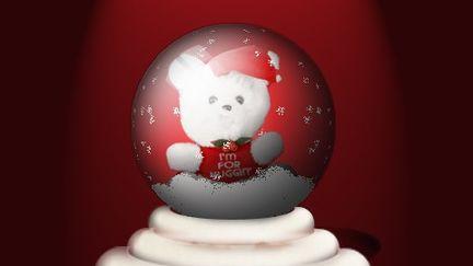 Bear inside Glassy Globe