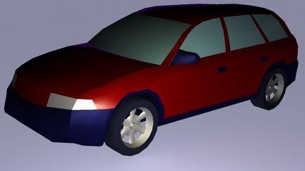 Low Poly Audi