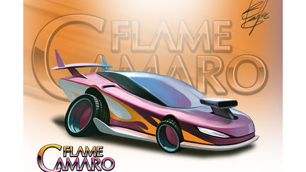 FLAME CAMARO