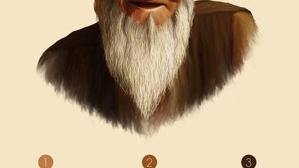 Portrait Illustration of Old Man
