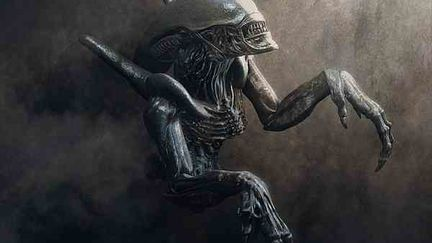 Alien Dans La Pénombre
