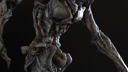 Alien Pilot Sculpture
