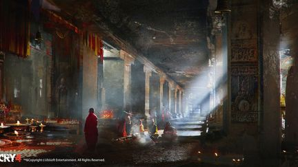 FarCry4 Concept Art - Temple Inside