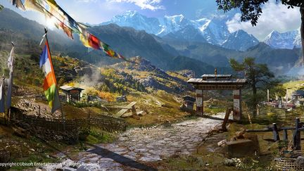 FarCry4 Concept Art - Village Opening Shot