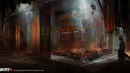 FarCry4 Concept Art - Temple Inside Library