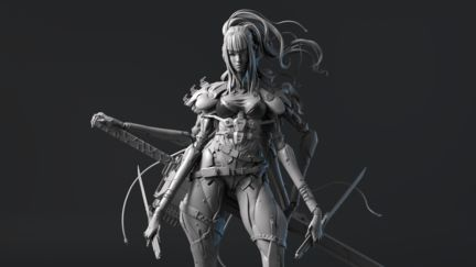 Cyborg Spider Lady