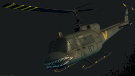 Bell UH-1, realtime art