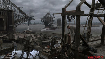 "Matte Painting for History Channel ""The Man Who Build America"" 2010"