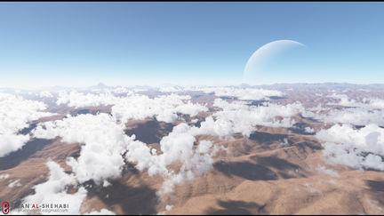 cloud matte painting