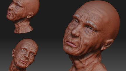 3D monk 3Dmax and Zbrush WIP