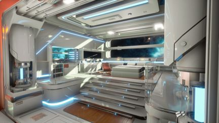 Sci-Fi Space Station - UNREAL ENGINE 4