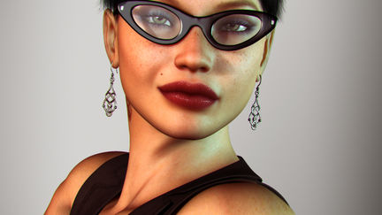 Librarian on fire (close up)