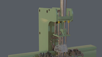 Industrial Assembly machine - Low Poly Version