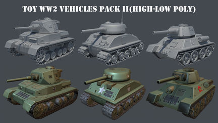 Toy WW2 Vehicles Part II