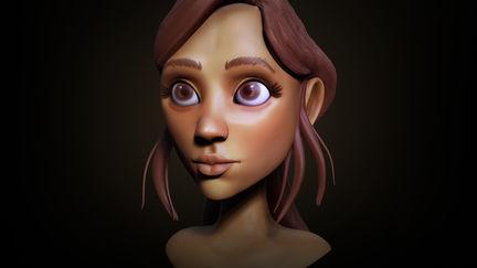 Cartoon Girl- Bust