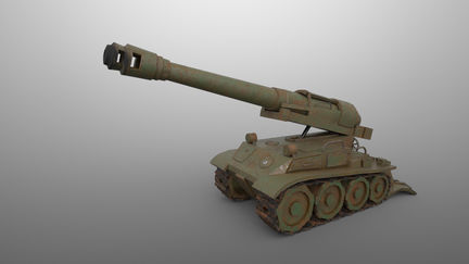 F3 Howitzer Low Poly
