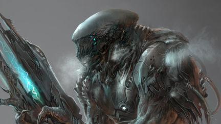 alien  solider