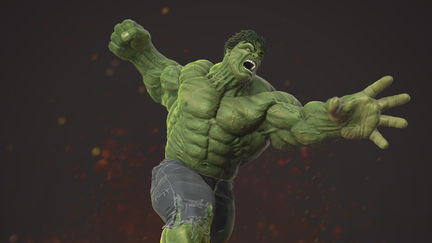 THE INCREDIBLE HULK! color render