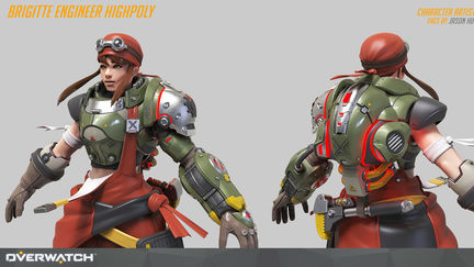 Overwatch Brigitte engineer Highpoly