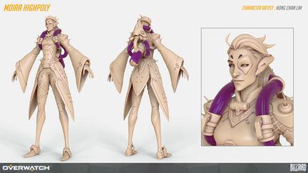 Overwatch Moira Highpoly