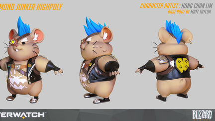 Overwatch Wrecking ball junker skin highpoly