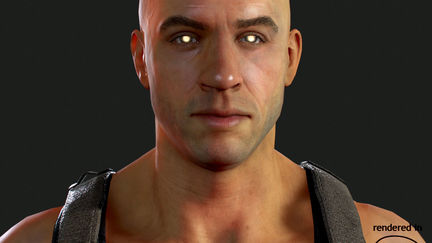 Game-res Riddick model for a Fallout, New Vegas mod