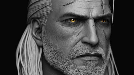Geralt of Rivia done for custom witcher series of action figures