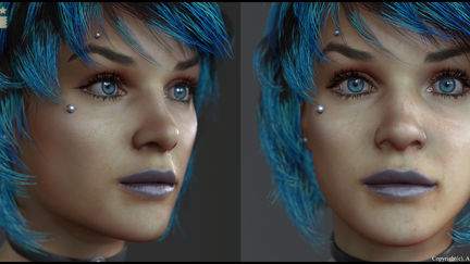 Real-time Eve model done for Atom Universe 2015